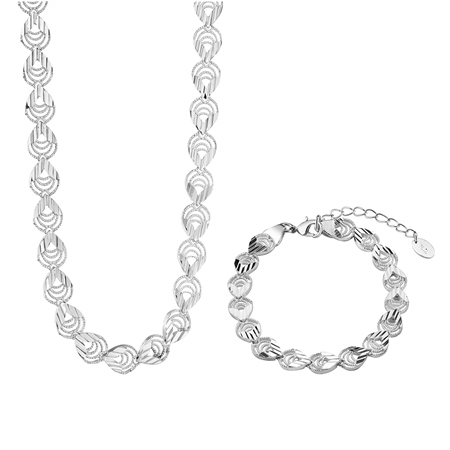 Tear Drop Necklace and Bracelet Set  - Click to view a larger image