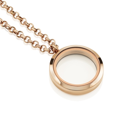 Rose Gold Plate Locket  - Click to view a larger image
