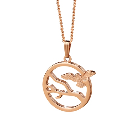 Rose Goldplate Ariel Pendant  - Click to view a larger image