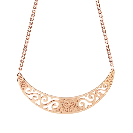 Rose Goldplate Celtic Neckpiece  - Click to view a larger image