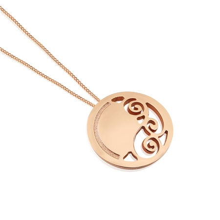 Rose Goldplate Celtic Pendant  - Click to view a larger image