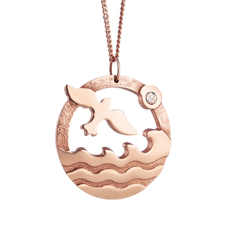 Rose Goldplate Ocean Pendant  - Click to view a larger image