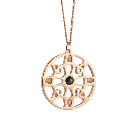 Rose Goldplate Wish Pendant  - Click to view a larger image