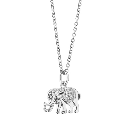 Silver plate Pendant with Elephant  - Click to view a larger image