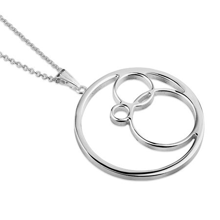 Silverplate Circle Pendant  - Click to view a larger image