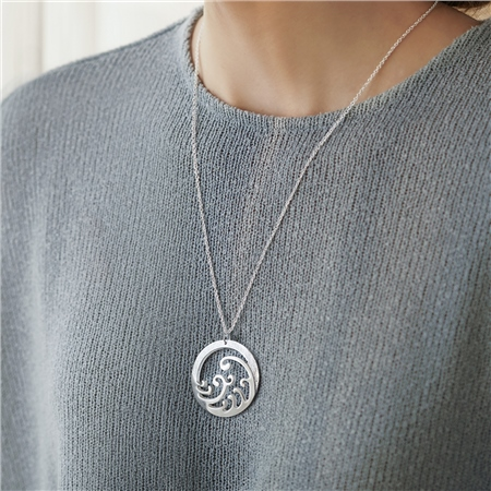 Silverplate Ocean Pendant  - Click to view a larger image