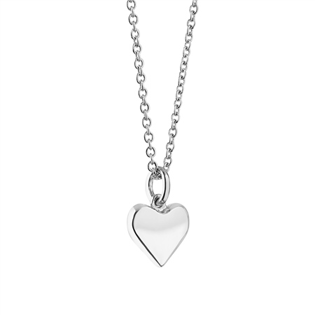 Silverplate Pendant with Heart  - Click to view a larger image