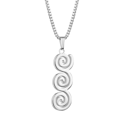 Tara Triple Swirl Pendant  - Click to view a larger image