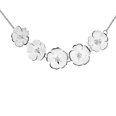 Waterlily Necklace  - Click to view a larger image