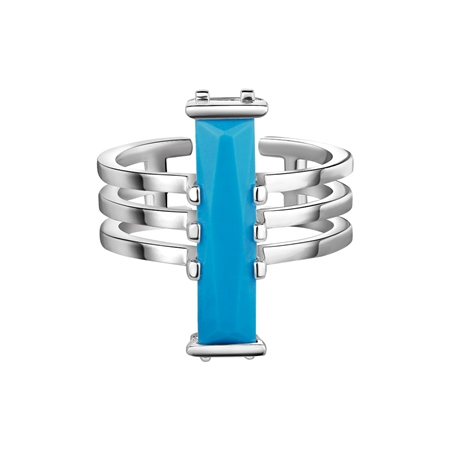 Silverplate Ring Turquoise Stone  - Click to view a larger image