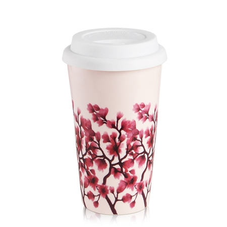 Pink Cherry Blossom Mug  - Click to view a larger image
