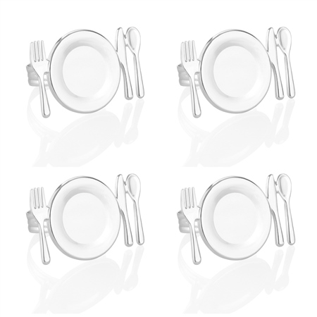 Place Setting Napkin Ring set of 4  - Click to view a larger image
