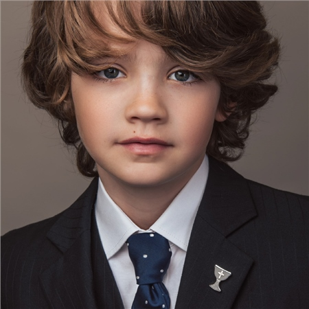 First Communion Tie Pin with Cross  - Click to view a larger image