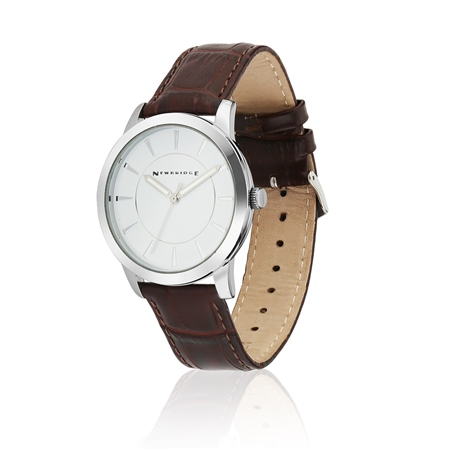 Mens Watch with Leather Strap  - Click to view a larger image