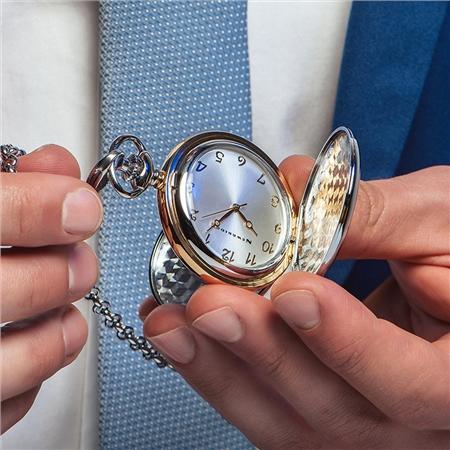 Newbridge Silverware - Two Tone Pocket Watch