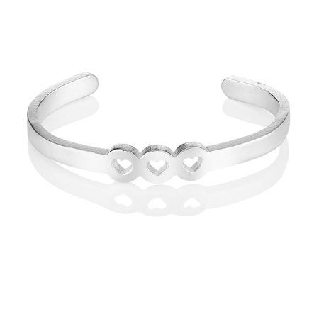 Amour Bangle 3 Hearts  - Click to view a larger image