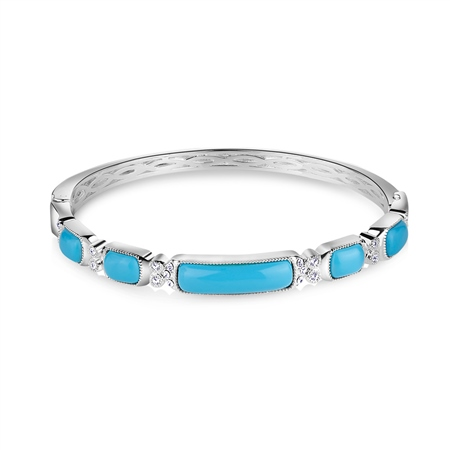Bangle with Turquoise Stone  - Click to view a larger image