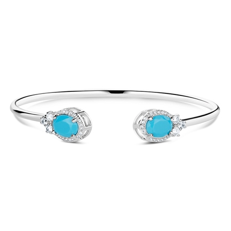 Bangle with Turquoise Stones  - Click to view a larger image