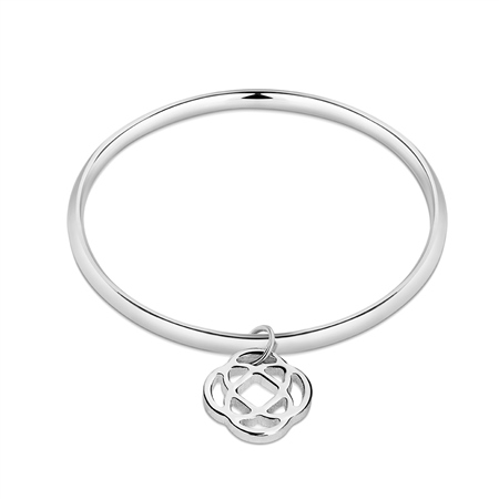 Celtic Silverplate Bangle  - Click to view a larger image