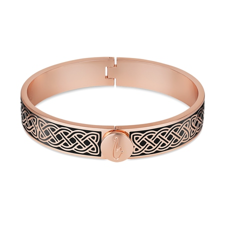 Enamel Celtic Bangle Black  - Click to view a larger image