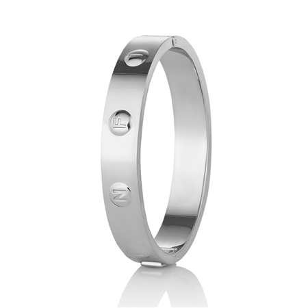 Rhodium plate Infinity Bangle  - Click to view a larger image