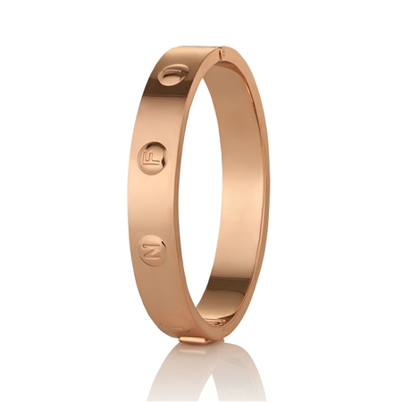 Rose Gold plate Infinity Bangle  - Click to view a larger image