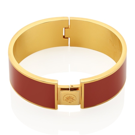 Rose Goldplate Bangle Red  - Click to view a larger image