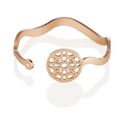 Rose Goldplate Wish Bangle  - Click to view a larger image