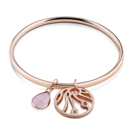 Wish Rose Goldplate Bangle  - Click to view a larger image