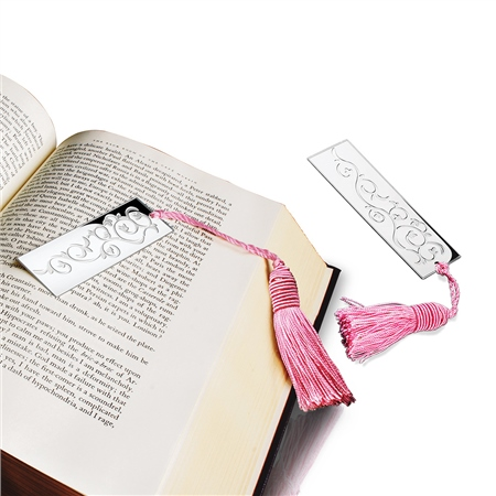 Book Mark Pink Tassel  - Click to view a larger image