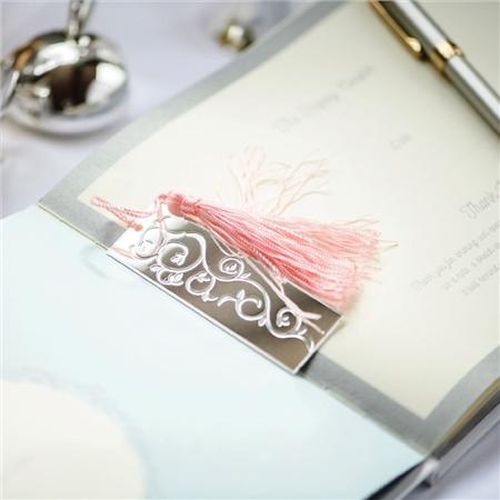 Newbridge Silverware Book Mark Pink Tassel  - Click to view a larger image