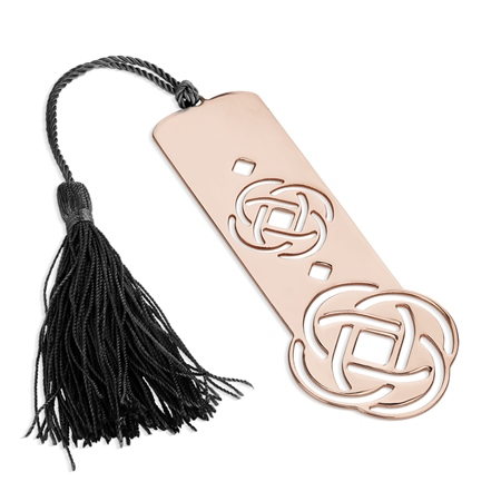 Celtic Bookmark with Black Tassel  - Click to view a larger image