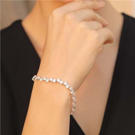 Bracelet Clear CZ Stones  - Click to view a larger image