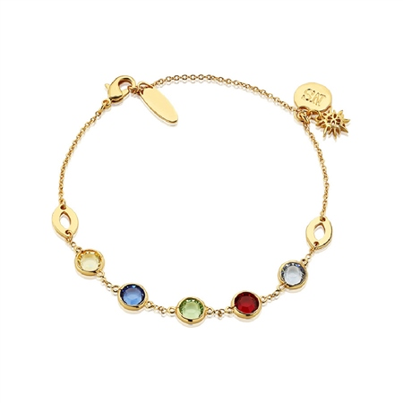 Bracelet with Multi Coloured Stones  - Click to view a larger image