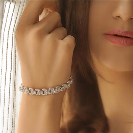 51ee566e70cc6 Newbridge Silverware - Clear Stone Bracelet