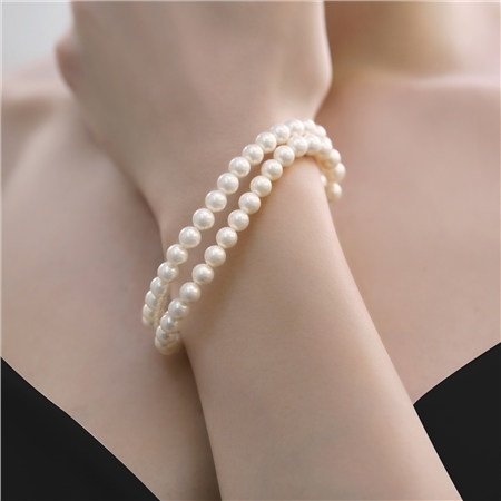 Pearl Double Strand Bracelet  - Click to view a larger image