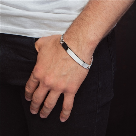 Mens Identity Bracelet  - Click to view a larger image