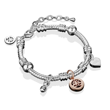 Silverplate Charm Bracelet  - Click to view a larger image