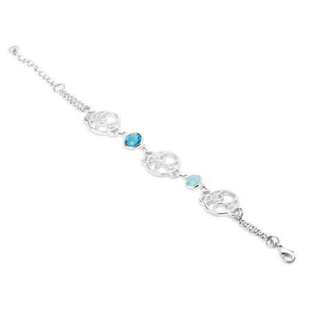 Silverplate Link Bracelet  - Click to view a larger image