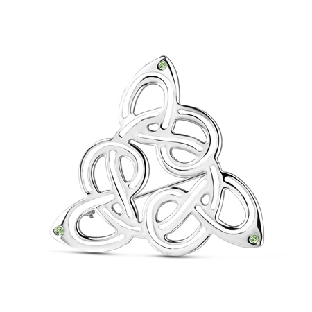 Celtic Brooch Green Stones  - Click to view a larger image
