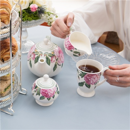 Rose Collection 3 piece Teaset  - Click to view a larger image