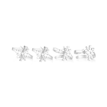 4 Piece Christmas Napkin Ring set