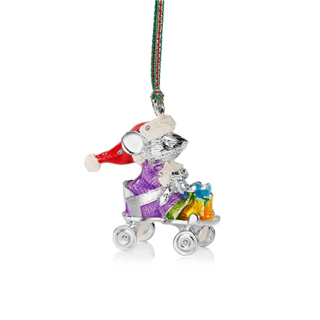 Christmas Mouse in Cart  - Click to view a larger image