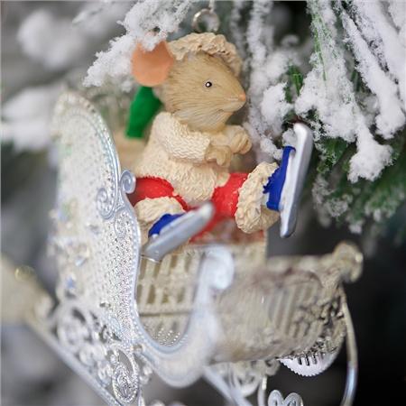 newbridge silverware christmas mouse in sleigh