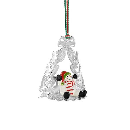 newbridge silverware christmas tree with snowman
