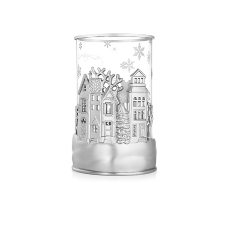 Christmas Village Tea Light Holder  - Click to view a larger image