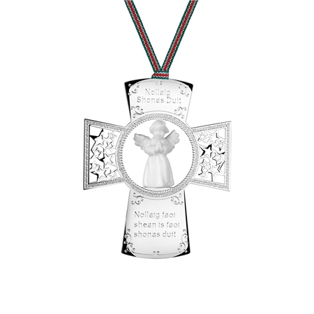 Cross with Angel Ornament 1
