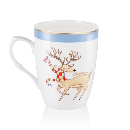 Dancer Christmas Mug  - Click to view a larger image