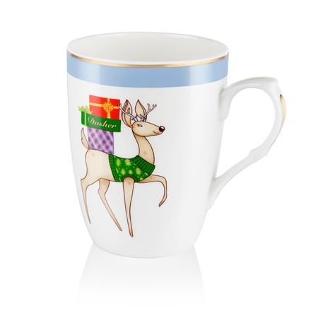 Dasher Christmas Mug  - Click to view a larger image