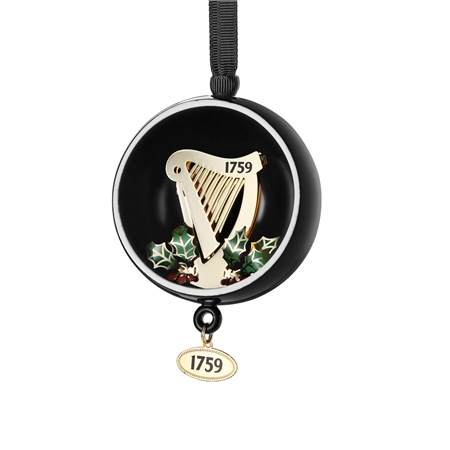Guinness Open Globe Harp Decoration  - Click to view a larger image